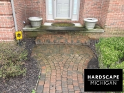 harrison-twp-mi-brick-paver-repair-front-brick-paver-step