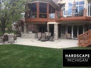 Residential Brick Paver Patio Installation - Lake Orion, Michigan AFTER