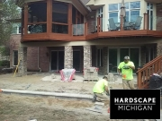 Residential Brick Paver Pation Installation - Lake Orion, Michigan BEFORE