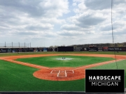 Commercial Synthetic Baseball Field Installation - Brother Rice Warrior Park in Troy, MI