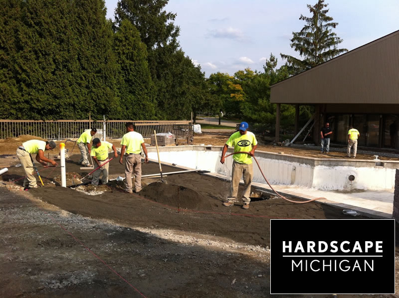 Jobs in progress avc hardscape michigan for Pool show michigan