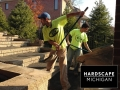Residential Brick Paver Staircase Installation, Rochester Hills