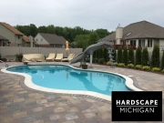 Custom Gunite Pool and Brick Paver Sundeck Installation - Chesterfield, MI