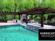 Clarkston, Michigan Residential Custom Pool / Spa and Outdoor Living Space