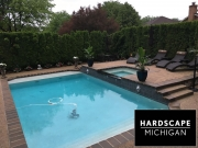 Custom Gunite Pool, Spa, Sundeck with Exposed Aggragate - Clinton Twp., MI