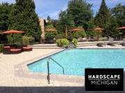 Custom Gunite Pool & Hardscape Sundeck - Oakland Twp., MI