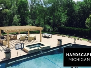 Residential Outdoor Living Space and Custom Gunite Pool & Spa Installation. Rochester