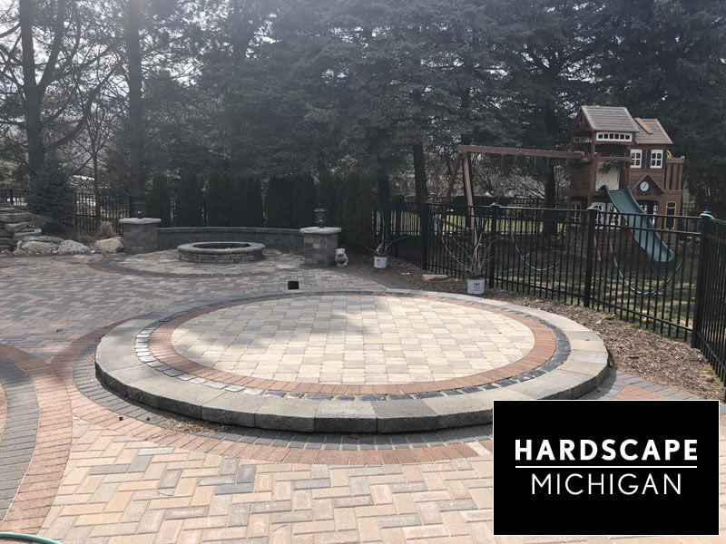 clinton-twp-brick-paver-patio-sitting-area-fire-pit-seating-wall-pillar-install