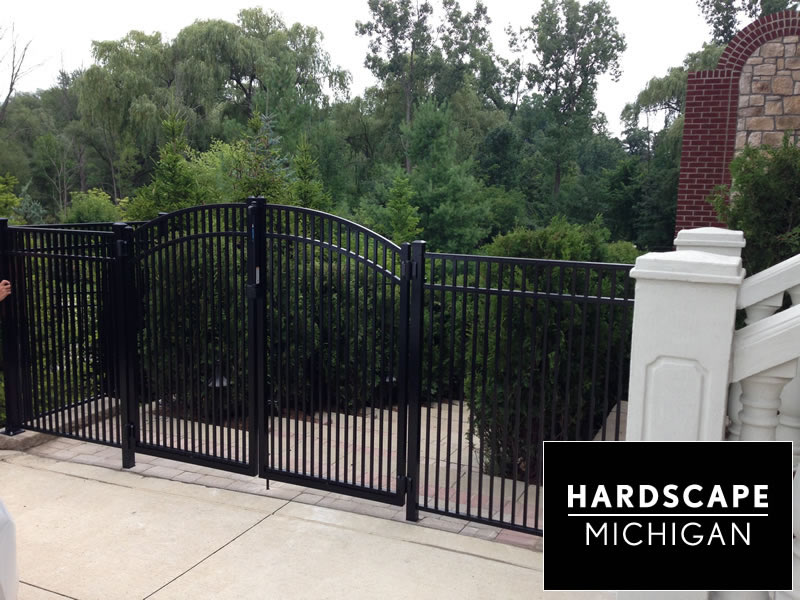 Residential Aluminum Fence & Arched Gate Installation - Rochester Hills