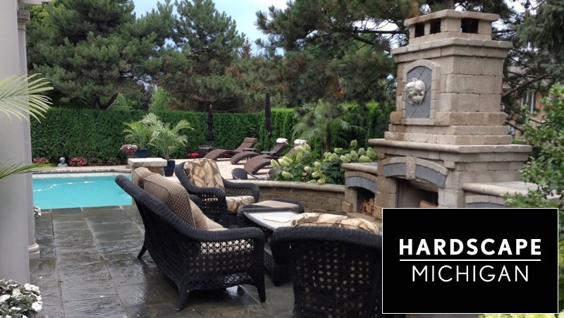 Residential Custom Fireplace & Outdoor Living Space - Clinton Twp, MI