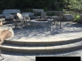 Residential Brick Paver Fire Pit - Armor Stone Outcropping Installation - Clarkston, MI