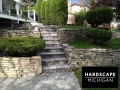 Residential Brick Paver Staircase & Natural Stone Retaining Wall - Shelby Township, MI