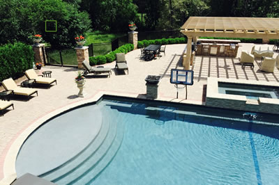 Rochester Hills Custom Pool, Hardscape And Landscape Design