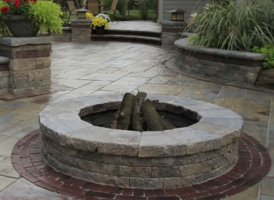 Brick Paver Fire Pit Design and Installation