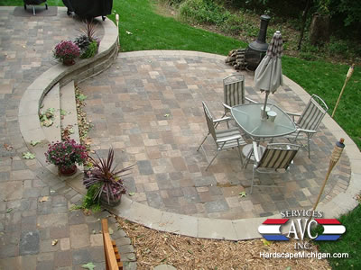 Bloomfield Hills, MI Brick Paver Patio Installation
