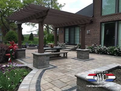 Outdoor Living E With Pergola And Pillars Rochester Hills Michigan