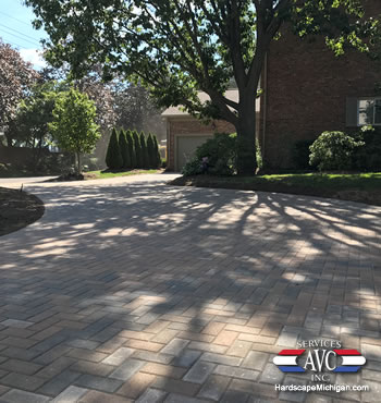 Bloomfield Hills, MI: Creating a Paver Driveway for Curb Appeal - AVC Hardscape Michigan