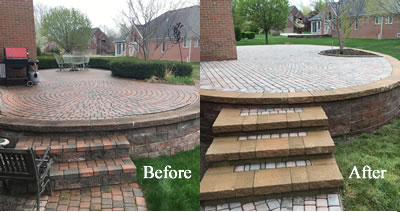 Brick Paver Patio Repair - Harrison Twp., MI